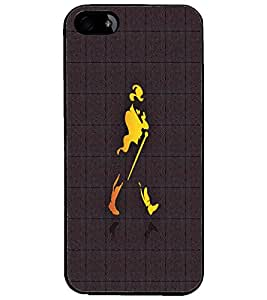 PrintDhaba Jhony Walker D-4858 Back Case Cover for APPLE IPHONE 4 (Multi-Coloured)