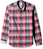 VOI Jeans Men's Casual Shirt (8903846125253_VOSH0841_Large_Red)