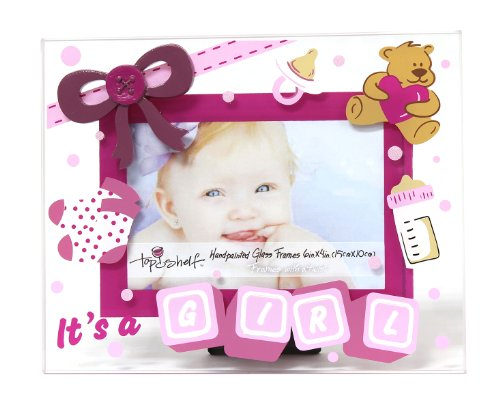Top Shelf Baby Girl' Photo Frame, Holds 4 by 6-Inch Photo - 1