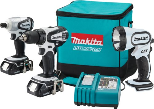 Buy Makita LCT300W 18-Volt Compact Lithium-Ion Cordless 3-Piece Combo Kit