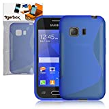 Tigerbox® Premium S-Line Slim Hydro Gel Skin Case Cover For Samsung Galaxy Young 2 SM-G130F Mobile Phone - Blue