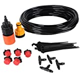 10m Hose Micro Irrigation Drip System Drippers Adjustable Flow for Garden Flower