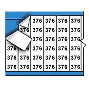 sobre blanco, los números Solid Marker Card alambre (25 tarjetas