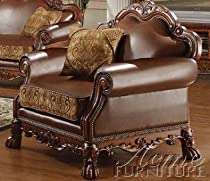Big Sale ACME 15162 Dresden Chair with Pillow, Chenille PU Finish