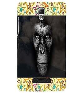 PrintDhaba Gorilla D-4742 Back Case Cover for LENOVO A2010 (Multi-Coloured)