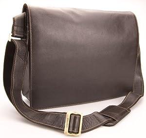 Visconti Hunter Distressed Oiled Leather A4 Work Messenger Bag # 18548 - Mocha
