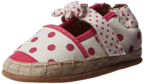 Robeez Fun Dot Espadrille Crib Shoe (Infant/Toddler),White With Pattern,6-12 Months M Us Infant