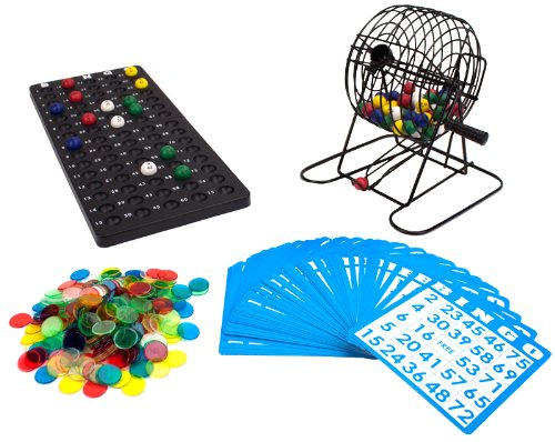 Buy Royal Bingo Supplies Deluxe 6-Inch Game with Colored Balls, 300 Bingo Chips and 50 Bingo Cards