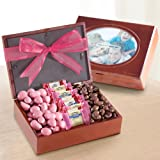 Berry Sweet Chocolates in Wooden Box with Photo Frame Lid