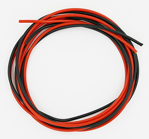 BNTECHGO 16 Gauge Silicone Wire 10 Feet [5 ft Black And 5 ft Red] 16 AWG Silicone Wire - Soft and Flexible Silicone Wire- 252 Strands of copper wire - 1