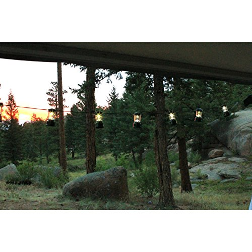 Coleman LED String Lights, 10 Lanterns - Outdoor Canopies - Patio and Furniture
