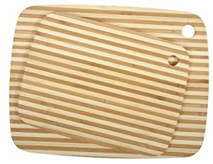 Core Bamboo Classic Pin-Stripe Cutting Board Combo Pack, Medium/Large