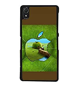 printtech Apple Green Leaf Back Case Cover for Sony Xperia Z2 , Sony Xperia Z2 L50W D6502 D6503