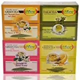GTEE Green Tea Bags-Chamomile & Green Tea Bags - Lemon & Ginger & Green Tea Bags-Jasmine & Tulsi Tea Bags (10...