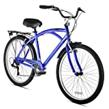 Kent Men's Bay Breeze 7-Speed Cruiser Bicycle, 18-Inch/One Size, Blue