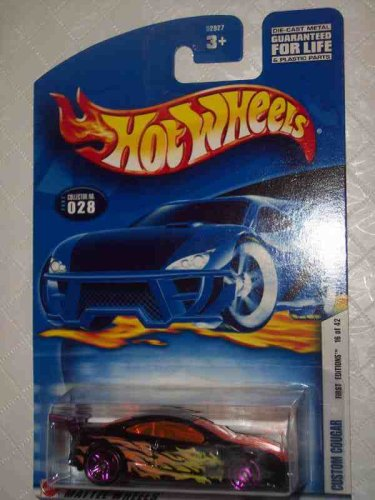 2002 First Editions -#16 Custom Cougar #2002-28 Collectible Collector Car Mattel Hot Wheels