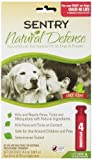 Sentry 4 Count Natural Defense Flea and Tick Squeeze-On for Dogs Over 40-Pound