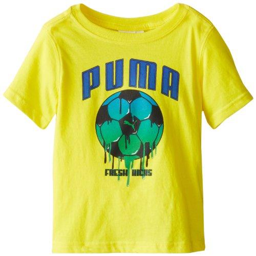 Puma Little Boys' Toddler Soccer Drip T-Shirt, Vibrant Yellow, 2T front-1060669