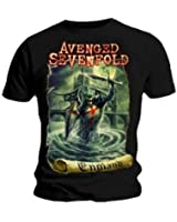 T-shirt officiel AVENGED SEVENFOLD Hail to the King ENGLAND Knight toutes les tailles