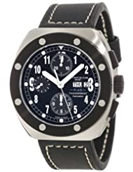 Inexpensive!! Montres De Luxe Men's TH7004 Thunderbolt Automatic Chronograph Black Dial Watch Deals