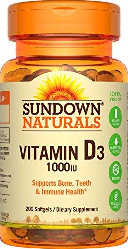 Sundown Naturals Vitamin D3 1000 IU, 200 Softgels (Sundown Vitamin C 1000 compare prices)