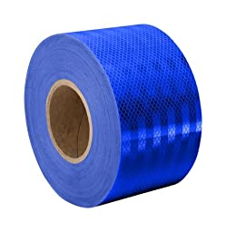 TapeCase Blue Micro Prismatic Sheeting Reflective Tape Converted from 3M 3435, 4.72\