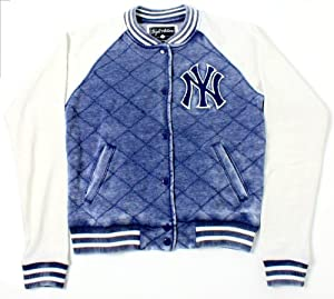 New York Yankees MLB Ladies Brownstein Baseball Snap Button Front Jacket by Wright & Ditson