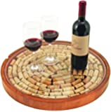 True  by True Fabrications Giftable Lazy Susan Cork Display for Turning Wine Corks into Collectible Keepsakes