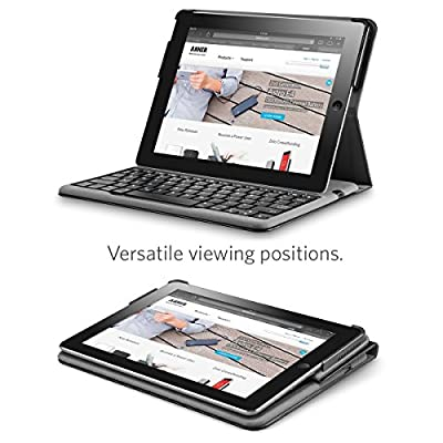Anker® Bluetooth Folio Keyboard Case for iPad 4 / 3 / 2 with 6-Month Battery Life Between Charges and Comfortable Low-Profile Keys from Anker