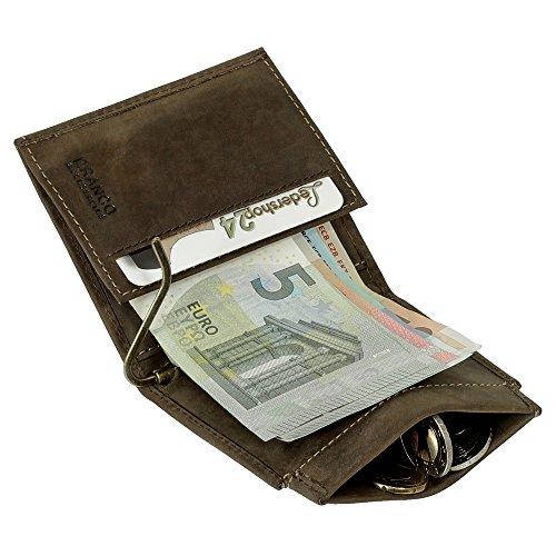 cec025cf60 Dollarclip portafoglio da uomo di cuoio, portamonete, con fermasoldi, nero,  marrone scuro, marrone, cognac, ruggine trova prezzo offerta