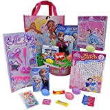 Disney Princess Easter Basket for Girls - Includes 27+ Toy & Candy Pieces - GUARANTEED FUN - Includes Easter Egg Basket with Grass - Frozen Elsa & Anna Coloring & 35 Stickers Activity Book - 100 piece Belle Jasmine Ariel or Snow White Puzzle - 6 Piece Beauty Play Set - Sleeping Beauty Word Search - Cinderella Princess Reusable Tote Bag - 12 Frozen Olaf Jumbo Crayons - Disney Princess Jelly Belly Jelly Beans - Includes Pink Easter Egg Basket with Six Easter Eggs!