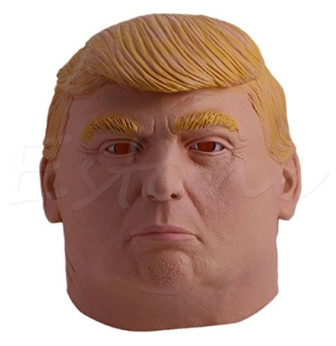 [Donald Trump Halloween Mask Billionaire Presidential Costume Latex Cospaly] (Female Centaur Costume)
