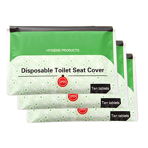 iSuperb Pack of 3 Travel Disposable Toilet Potty Seat Covers 30-Count
