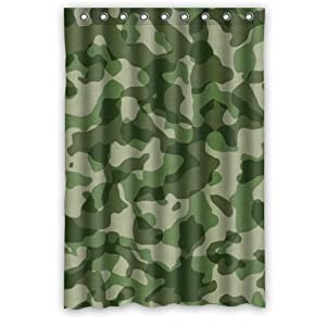 Army Camouflage Woodland Camo Shower Curtain Shower Rings Included 100 Polyester