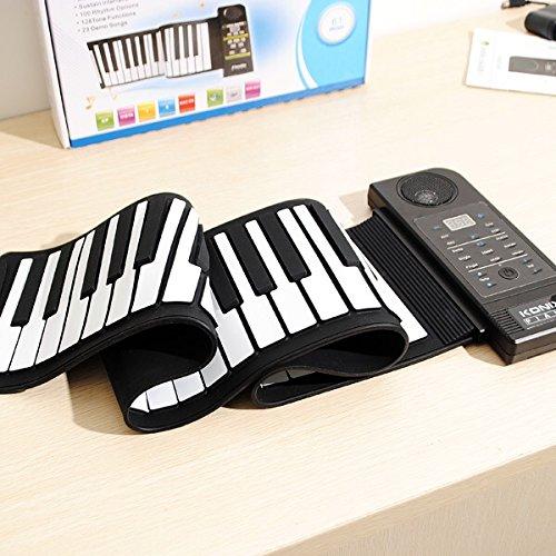 Konix Silicon Flexible 61 Keys Electric Roll Up Piano Pu61S