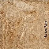 Fur Accents Traditional Bear Skin Rug Plush Faux Fur (5'x7', Teddy Bear Tan)