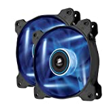 Corsair Air Series AF120 LED Quiet Edition High Airflow Fan Twin Pack - Blue