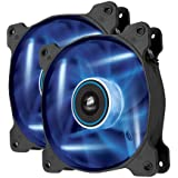 Corsair Air Series AF120 LED Quiet Edition High Airflow Fan Twin Pack - Blue (CO-9050016-BLED)