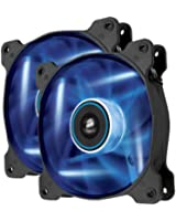 Corsair Ventilateur Grand Débit AF120 Edition Silencieuse 120mm LED Bleue - Pack double (CO-9050016-BLED)