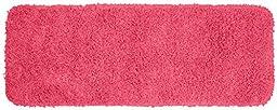 Garland Rug Jazz Runner Shaggy Washable Nylon Rug, 22-Inch by 60-Inch, Pink