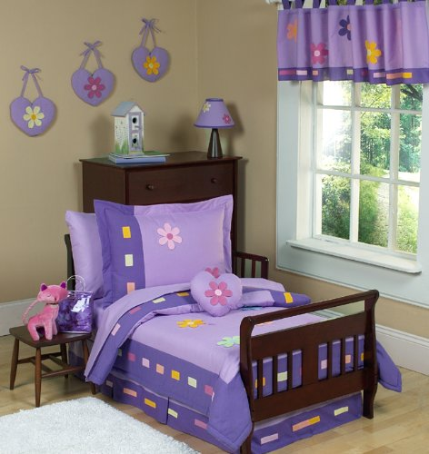 JoJo Designs 5-Piece Toddler Bedding Set - Danielle's Daisies Purple