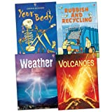 Stephanie Turnbull Usborne Beginners: Your World Pack, 4 books, RRP £15.96 (Volcanoes; Weather; Your Body; Rubbish And Recycling).