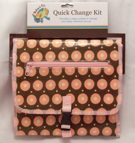 Baby & Co. Quick Change Kit- Brown & Orange Dots