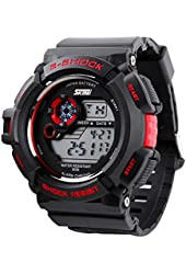 Fanmis S-Shock Multi Function Digital LED Quartz Watch Water Resistant Electronic Sport Watches Red