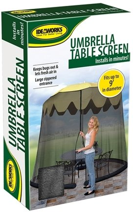 9' Umbrella Table Screen-Black [6 Pieces] *** Product Description: Keep Pests From Bothering Your Outdoor Fun. No More Mosquito Bites Or Flies Nipping At Your Food. Lightweight. Sets Up Easily Over Patio Umbrella'S. Large Zippered Entrance For Ea ***