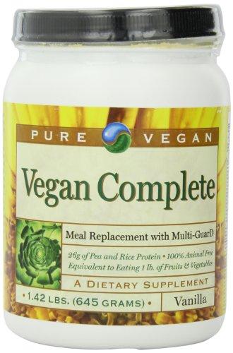 Pure Vegan Vegan Completetm Meal Replace Dietary Supplement, Vanilla, 1.42 Pound