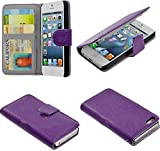 myLife Eggplant Purple - Classic Design - Textured Koskin Faux Leather (Card and ID Holder + Magnetic Detachable Closing) Slim Wallet for iPhone 5/5S (5G) 5th Generation iTouch Smartphone by Apple (External Rugged Synthetic Leather With Magnetic Clip + Internal Secure Snap In Hard Rubberized Bumper Holder)