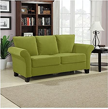 Portfolio Provant Modern Spring Green Velvet Sofa