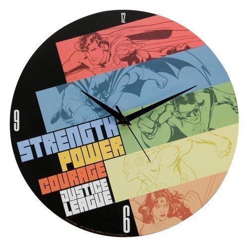 DCコミックス Justice League (ジャスティスリーグ) 木製壁掛け時計