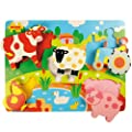 Bigjigs Toys BJ326 Chunky Lift Out Farm Puzzle
